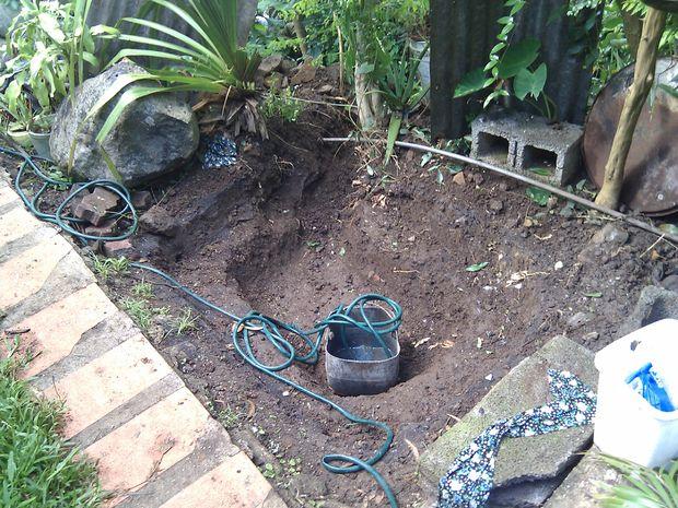 Estanque de concreto paso 3 preparaci n de sitio y for Ladrillos para piletas