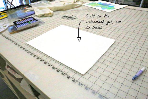 Crear Su Propia Marca De Agua Paso 2 Dibujo Con Pasteles