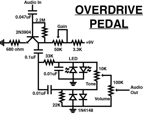 pedal de overdrive    paso 2  circuito