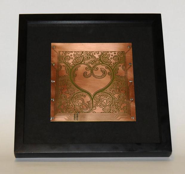 Grabado día arte w/LED de cobre Junta San Valentín / Paso 9: Montaje ...