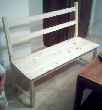 Estirar una silla de Ikea en un banco Ivar - Ingolf - askix.com
