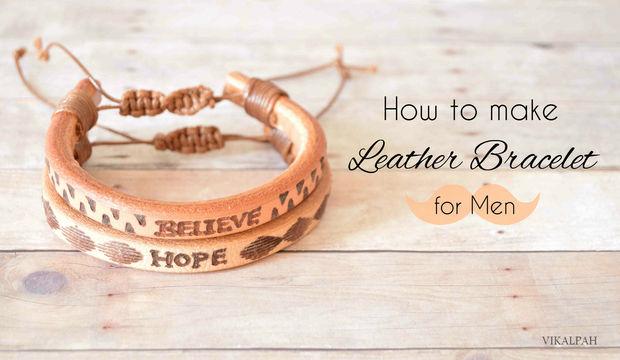 24a79e9c828e Como hacer pulsera de cuero para hombres - askix.com