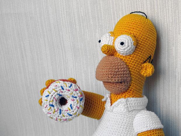 Homer Simpson Crochet juguete - askix.com