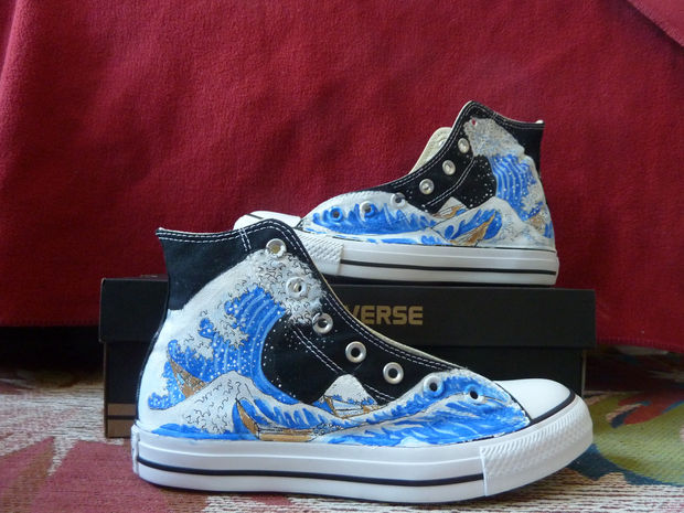 guirnalda imagina Endurecer  Converse pintado: zapatos maquillaje - askix.com