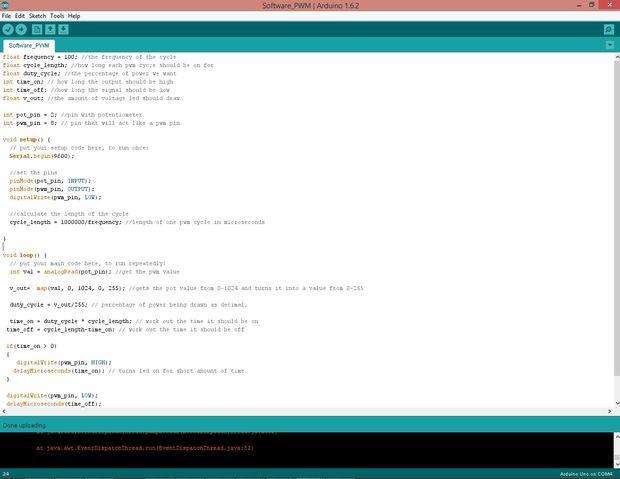 Software de PWM con arduino/attiny / Paso 3: Paso 3: el
