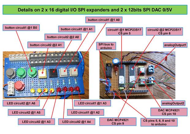 Estado de máquina y multitarea en arduino con expansores SPI
