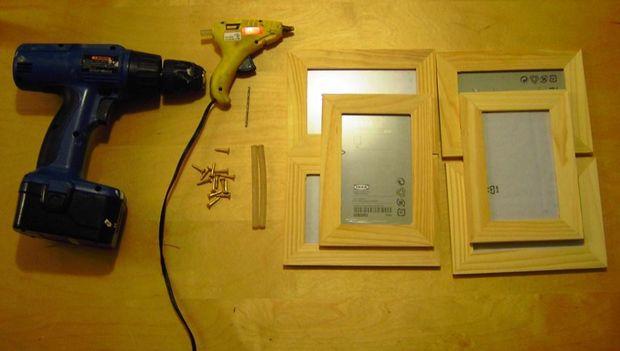 Baratos ($5-$10) IKEA Collage marco / Paso 1: Reunir los materiales ...