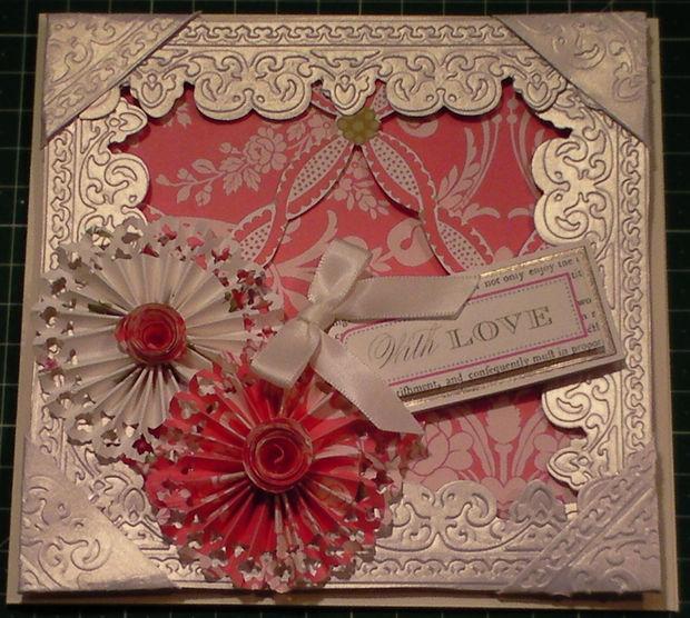 Cómo hacer una tarjeta marco Floral 3D relieve - askix.com