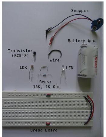 Circuito Ldr : Placa de circuito impresso desenvolvida para o sensor com ldr