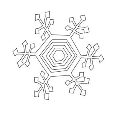Los copos de nieve cinéticas / Paso 1: Uso Illustrator o InkScape ...