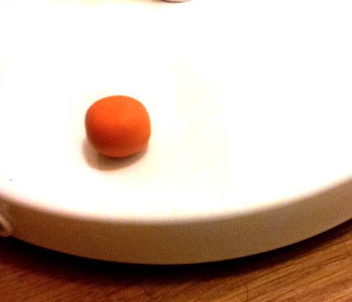 Anillo de calabaza espeluznante / Paso 1: Ablandar y moldear la ...