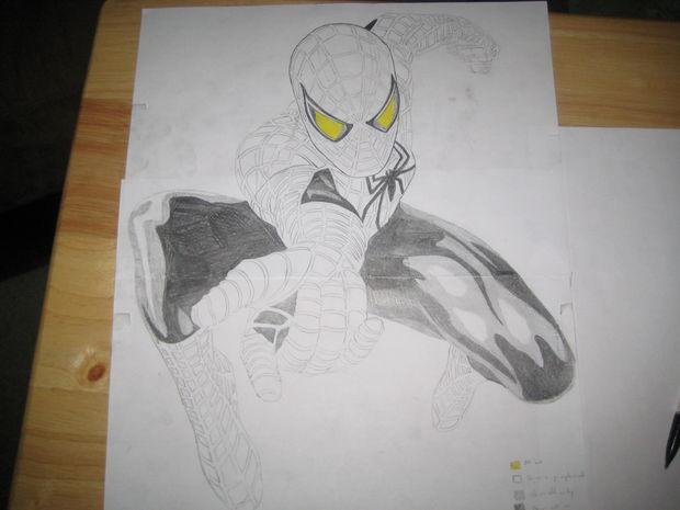 Cómo tallar Spiderman / Paso 1: Paso 1: dibujar el patrón - askix.com