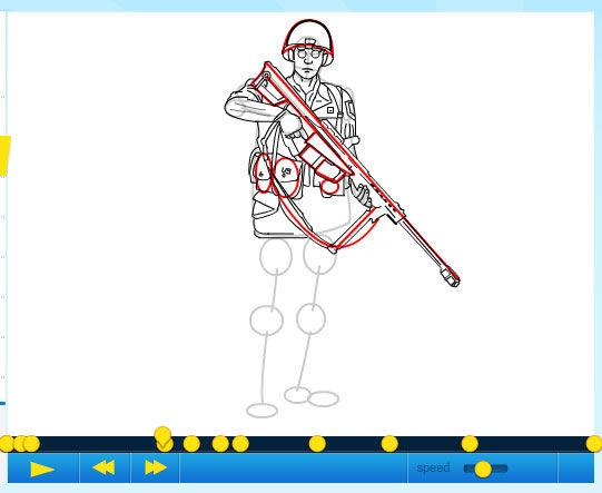 Cómo dibujar un soldado (Call of Duty) / Paso 1: - askix.com