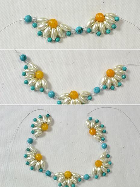 882c05943b0c PandaHall Tutorial - cómo a DIY un collar de gargantilla de flor ...