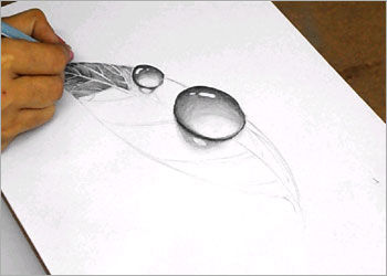 Dibujo A Lapiz De Arte 3d Facil Como Dibujar Gota De Rocio 3d En