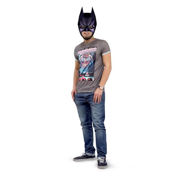 Máscara de papel de Batman 3D DIY - askix.com
