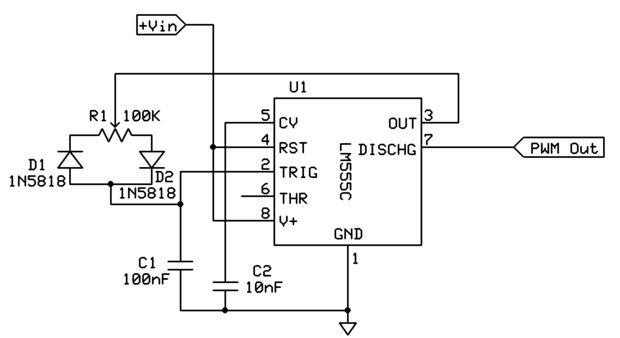simple pulse width modulator