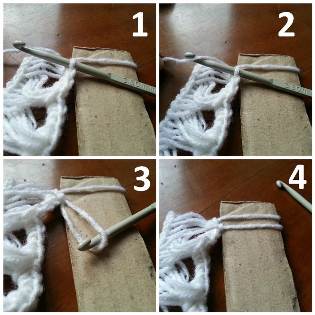Palo de escoba DIY ganchillo bufanda / Paso 6: Aumento de longitud ...