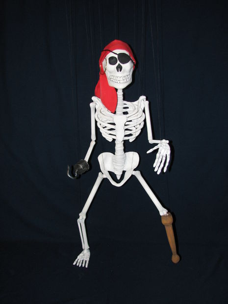 Pirata Esqueleto Truco Marioneta Títere Askix Com