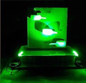 Fuente de agua de mesa eléctrica casera con luz LED - askix.com