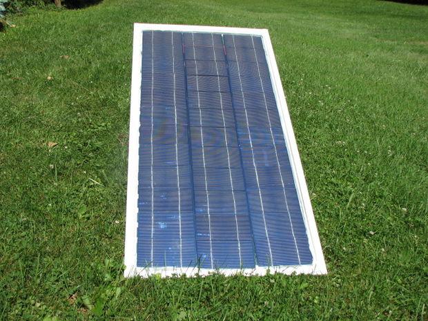 Usando células solares, para hacer vidrio marco DIY Panel Solar ...