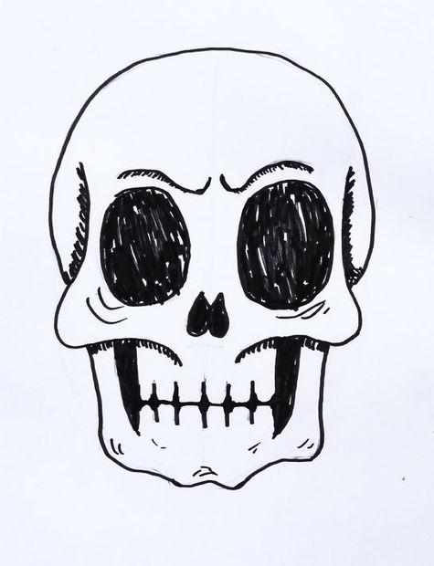 Cómo dibujar un cráneo humano - askix.com