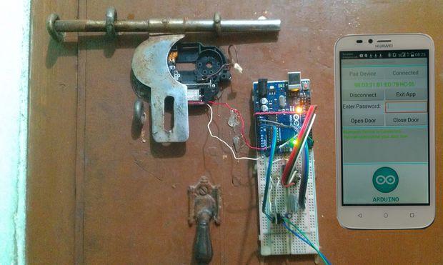 Fingerprint Door Unlock System Project