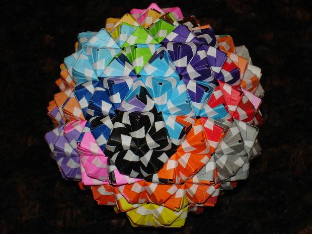 Origami Sonobe | Origami Sonobe Variations Origami And Craft,Math ... | 465x620