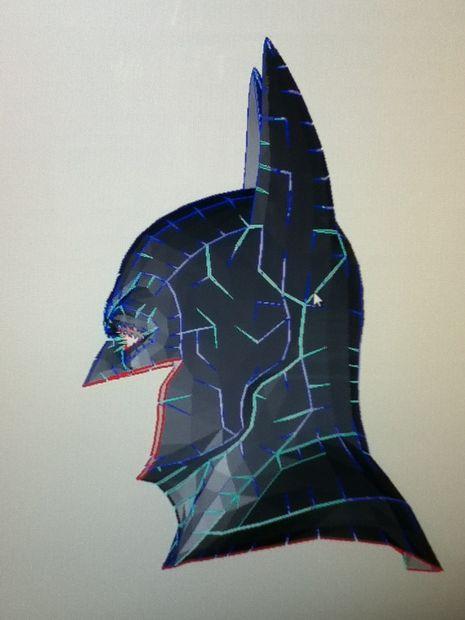 Images of Batman Cowl Pepakura - #rock-cafe