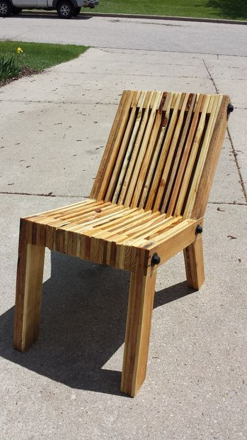 Reclinado de la silla de madera de la plataforma askixcom