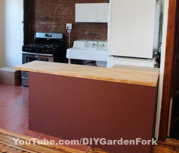 Isla de cocina de Ikea DIY / Paso 1: Madera contrachapada acabado ...