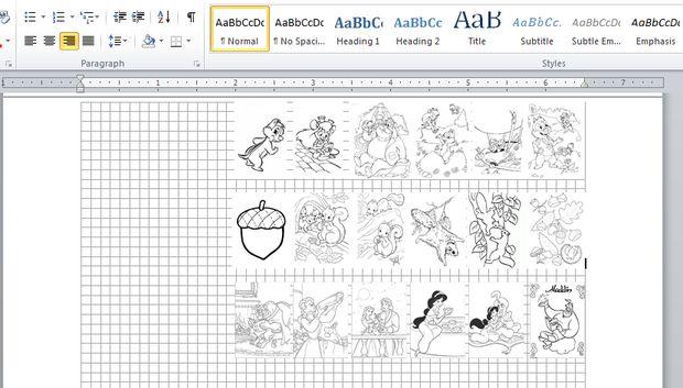 Miniatura para colorear libro / Paso 1: Crear libro en Word - askix.com