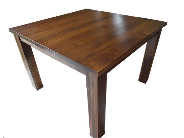 Fácil de construir mesa de comedor de nogal - askix.com