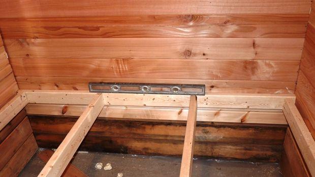 Construcción de una Sauna al aire libre / Paso 13: bancos - askix.com