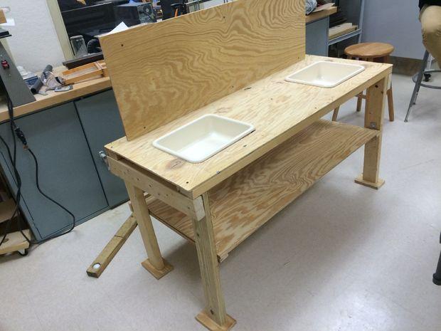 Juego de mesa de la cocina de madera reciclada - askix.com