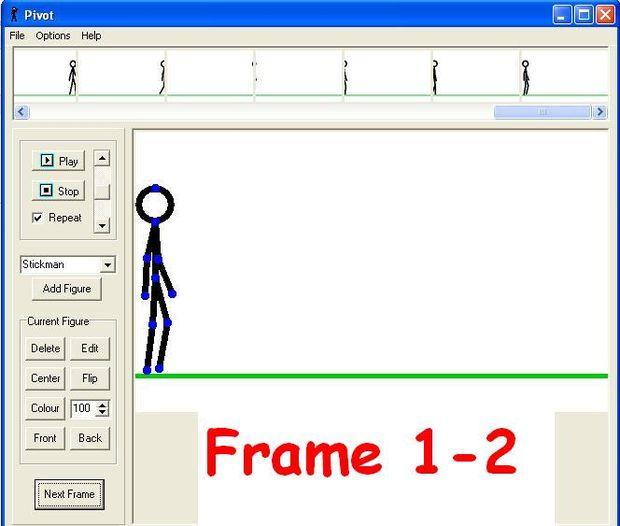 Cómo hacer animaciones gratis - Pivot Stickfigure Animator / Paso 4 ...