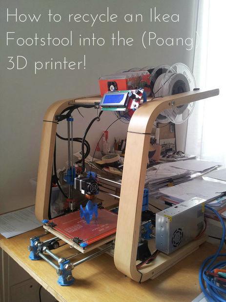De un reposapi s ikea para impresora 3d poang for Papelera reciclaje ikea