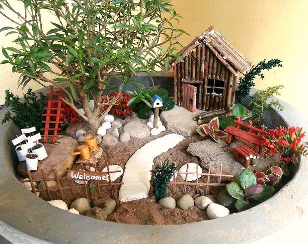 Accesorios de bricolaje jard n miniatura for Bricolaje para jardin