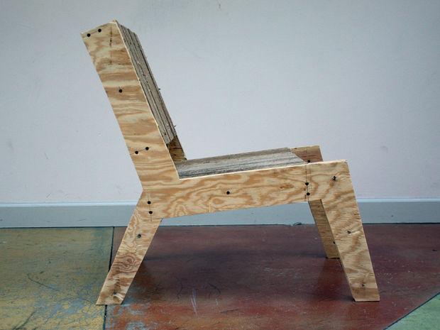 Silla mecedora de cartón/madera contrachapada - askix.com