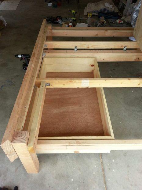 Marco de la cama de plataforma/almacenamiento - askix.com