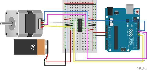 Controlando un Motor paso a paso con un Arduino Paso 6