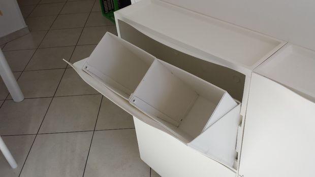 Cubo de basura con el ikea zapatero trones paso 4 for Cubo basura extraible ikea