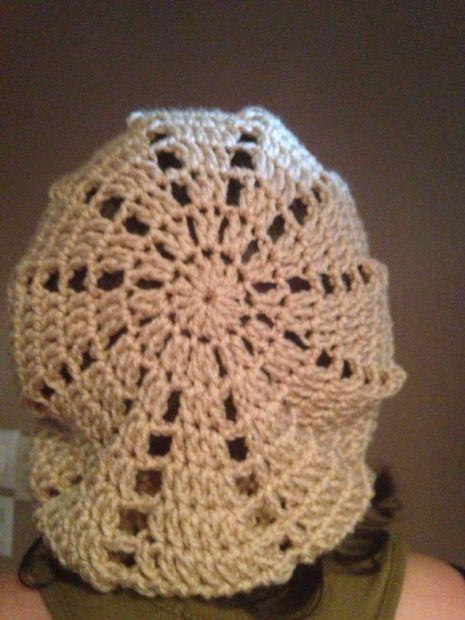 Triángulo slouchy Beanie Crochet patrón - askix.com