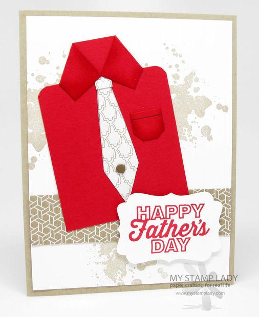 Como Hacer Una Camisa De Papel Para Una Tarjeta De Día Del Padre
