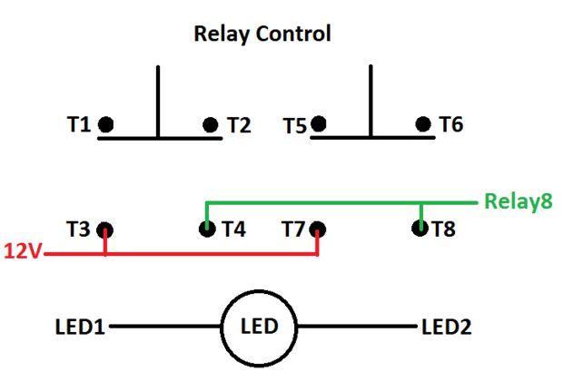rocker switch y cableado de joystick con actuadores