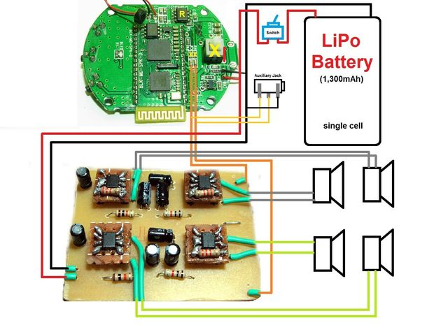 Miraculous Wiring Diagram For Diy Bluetooth Speaker Somurich Com Wiring Digital Resources Jebrpcompassionincorg