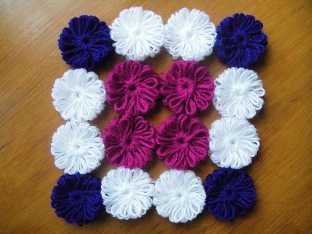 Flores De Lana Sin Ganchillo Askixcom - Como-hacer-una-flor-de-lana