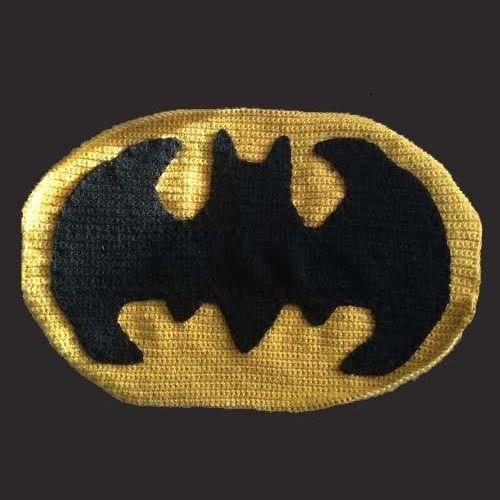 Cómo el símbolo de Batman de ganchillo - askix.com