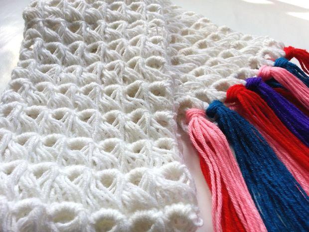 Palo de escoba DIY ganchillo bufanda - askix.com