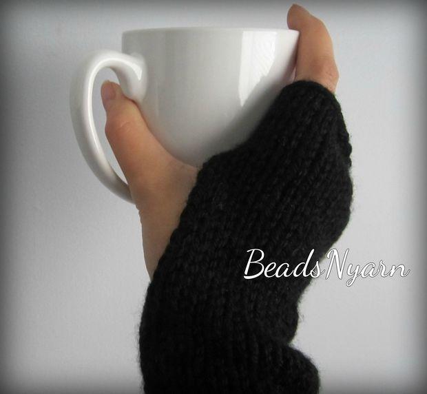 Fácil de punto guantes sin dedos - askix.com